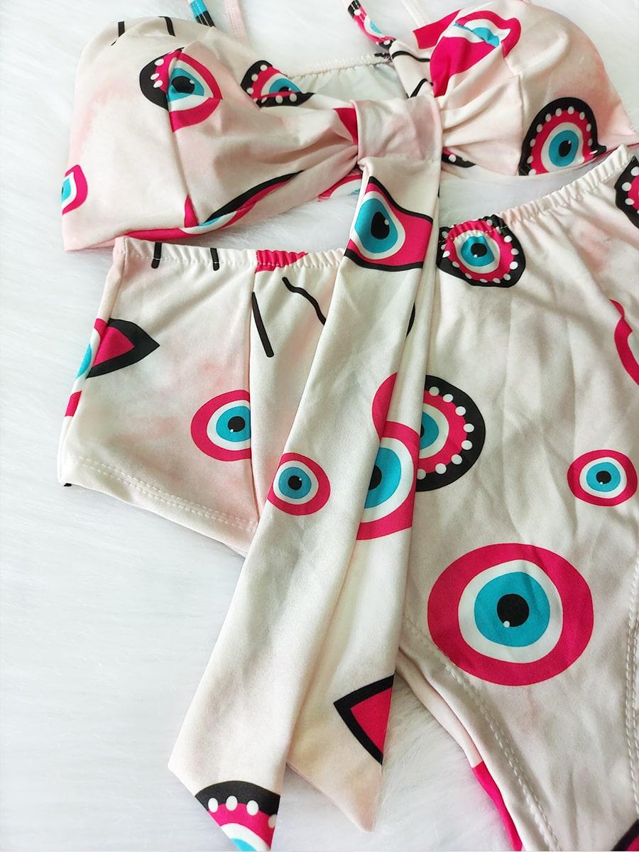Biquíni Hot Pants - Olho Grego Tie Dye Rosa