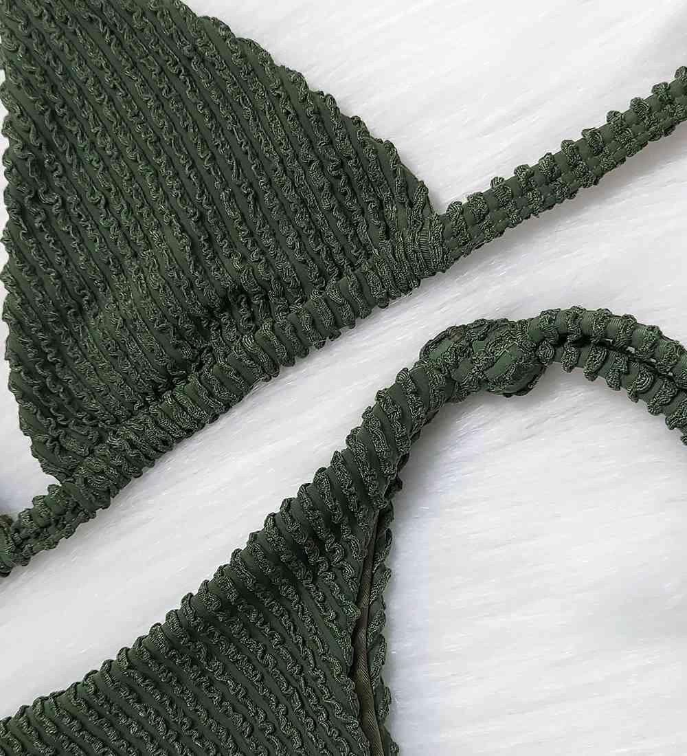 Biquíni Lacinho Cortininha Glacial - Verde Militar