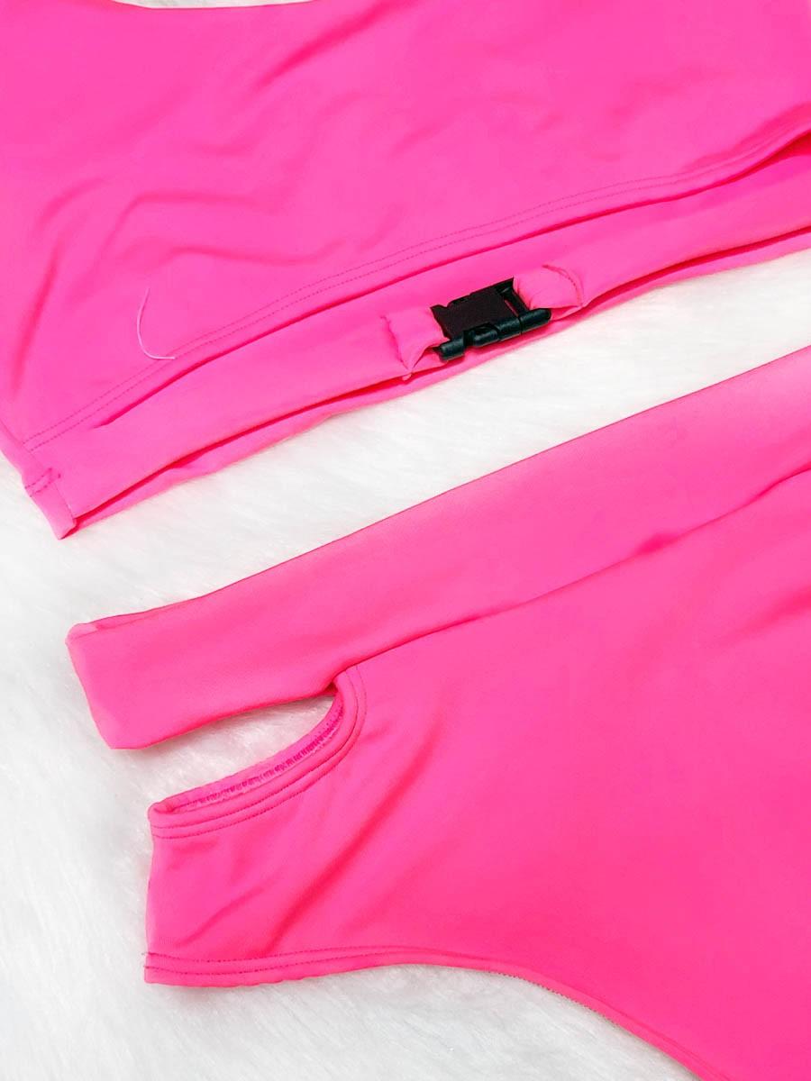 Biquíni Street - Rosa Neon Plus Size