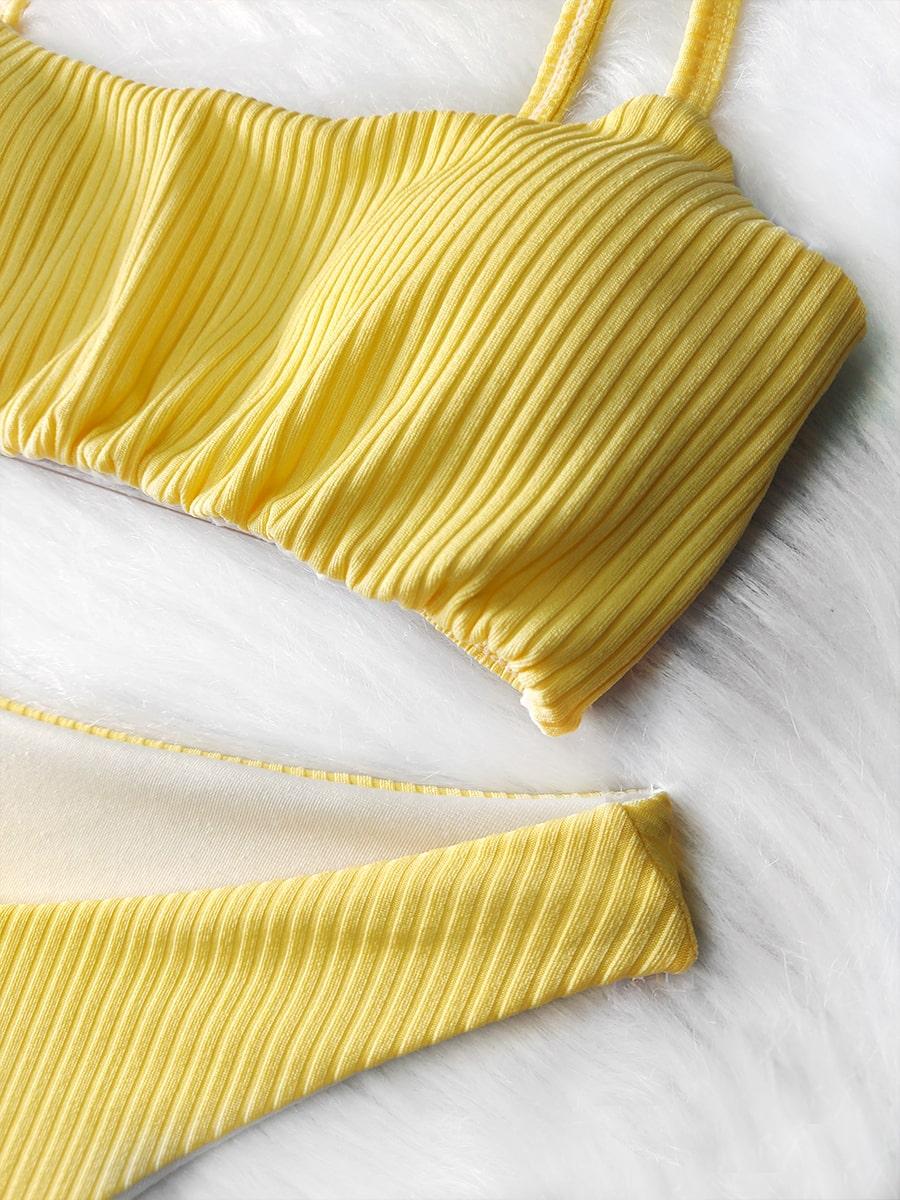 Biquíni Top Canelado - Amarelo