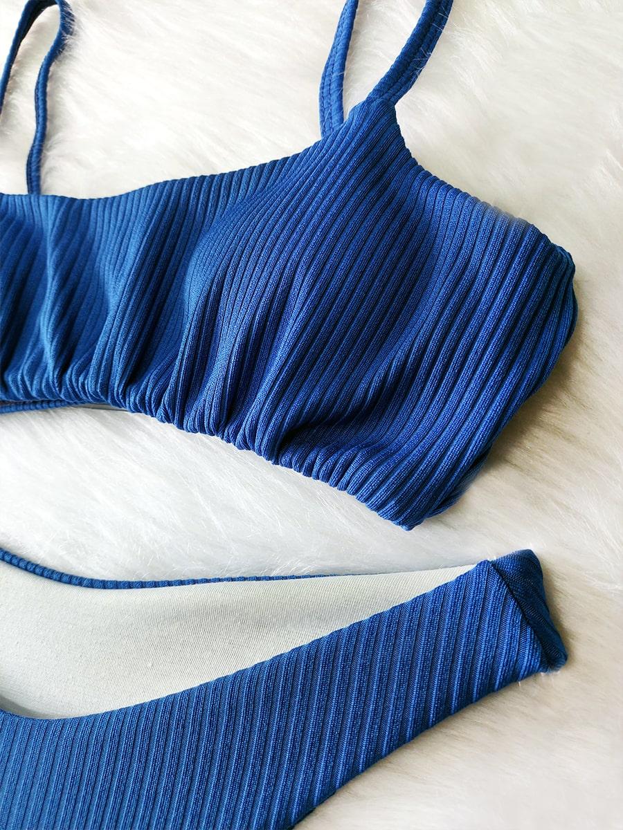 Biquíni Top Canelado - Azul Royal