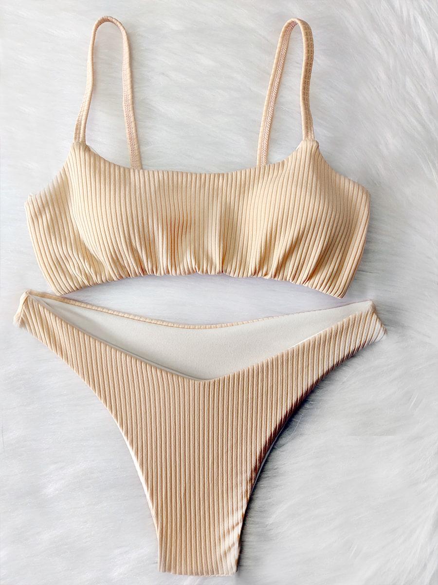 Biquíni Top Canelado - Nude