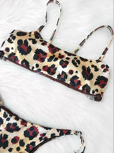 Biquini Top Leopardo