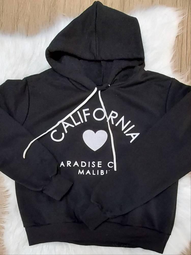 Blusa de Moletom Califórnia - Preto