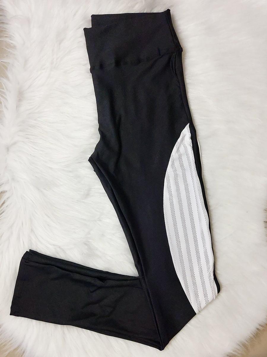 Calça Fitness Tela - Branco