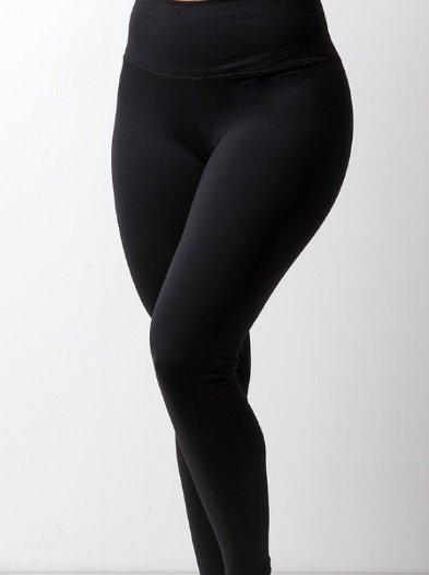 Calça Legging Básica de Poliamida - Preta