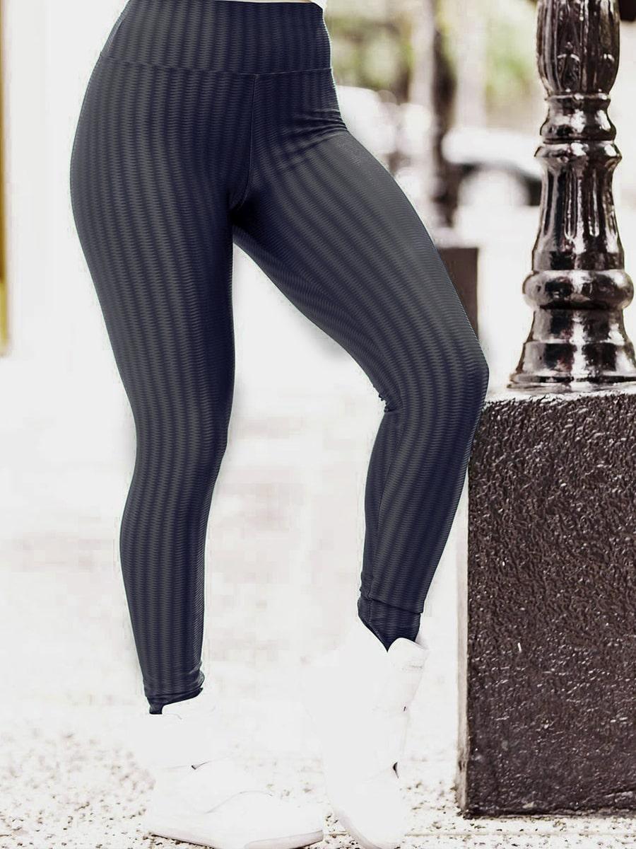 Calça Legging em Poliamida - Chumbo