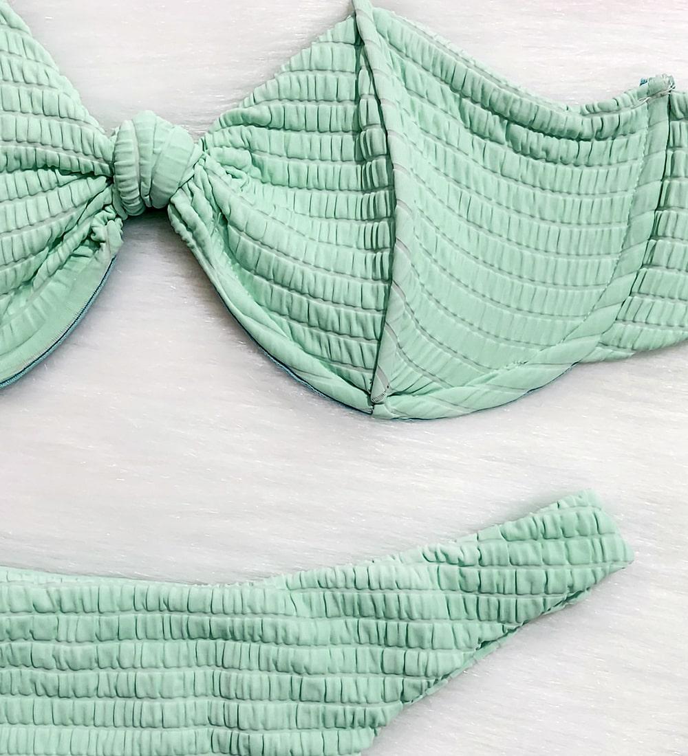 Conjunto Biquíni Diamante Candy - Verde Água
