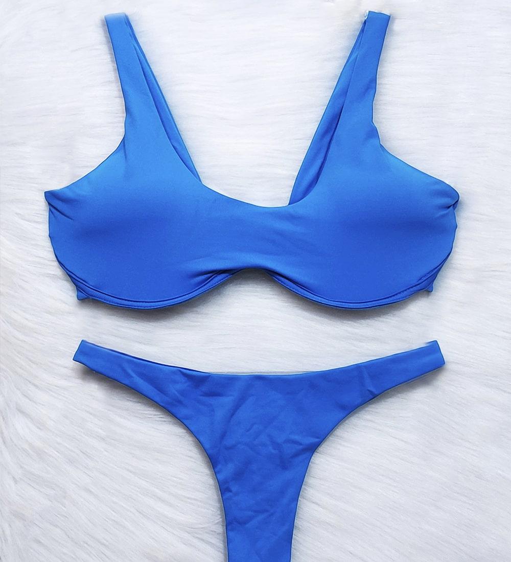 Conjunto Biquíni Top Cropped Aro Asa Delta Summer - Azul