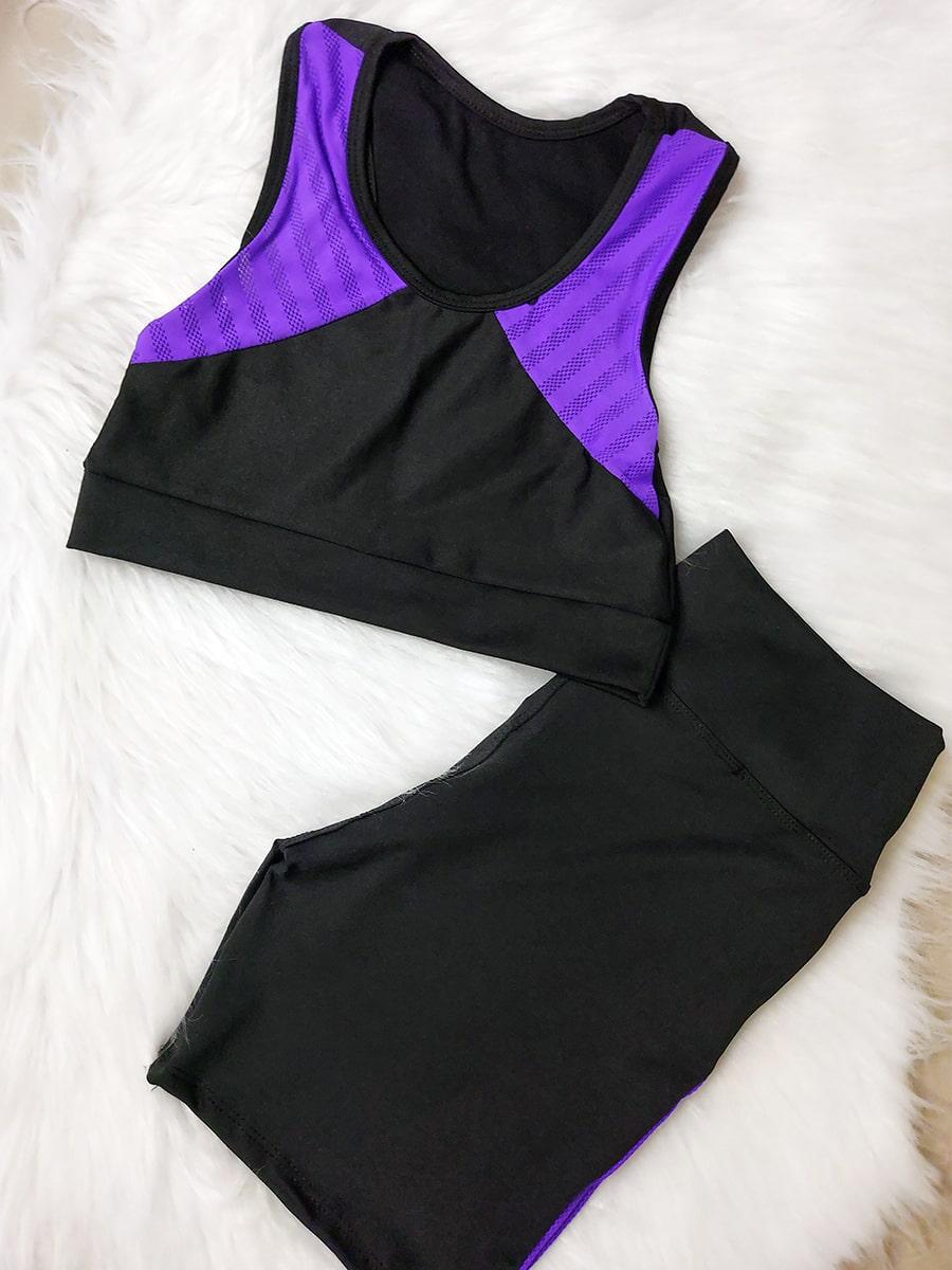 Conjunto Fitness Tela - Roxo