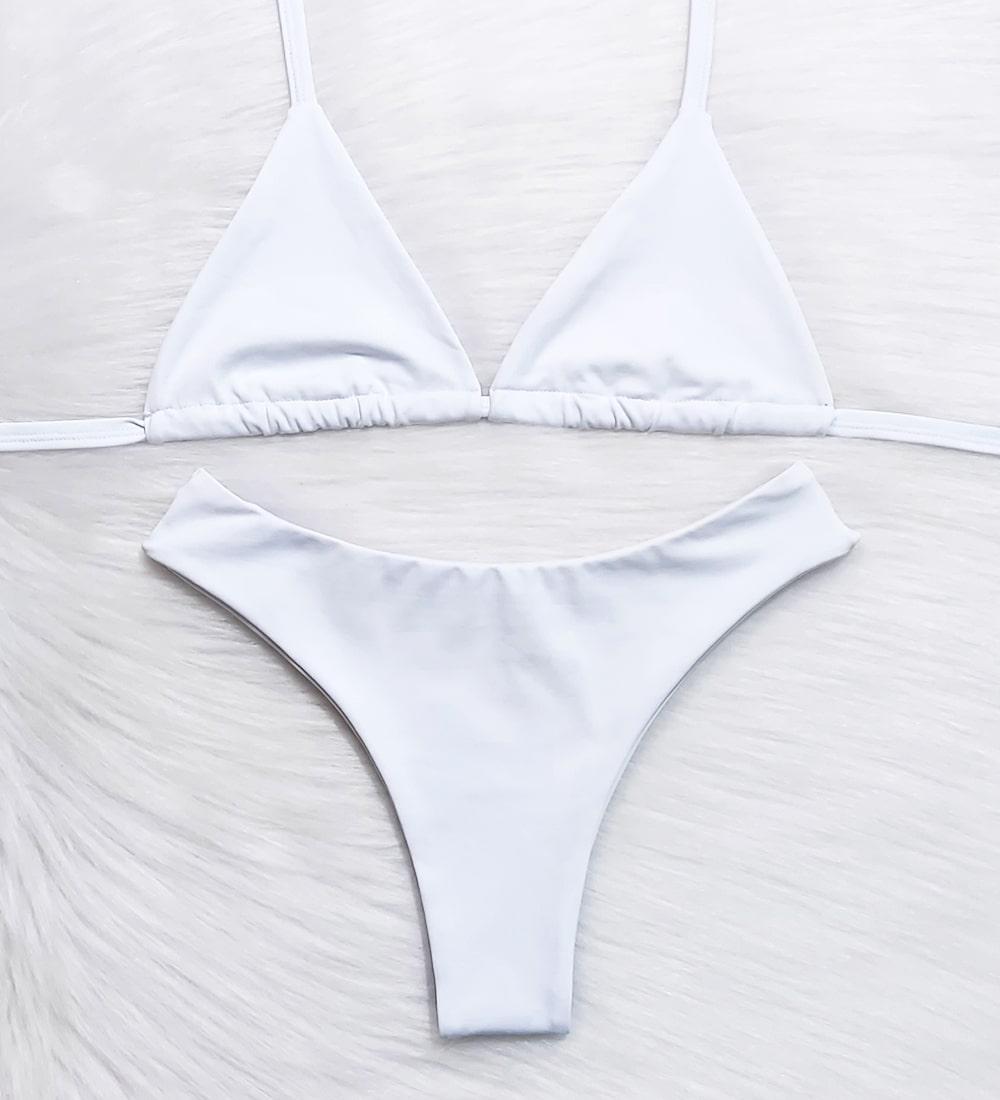 Conjunto Top Cortininha Asa Delta Basic - Branco