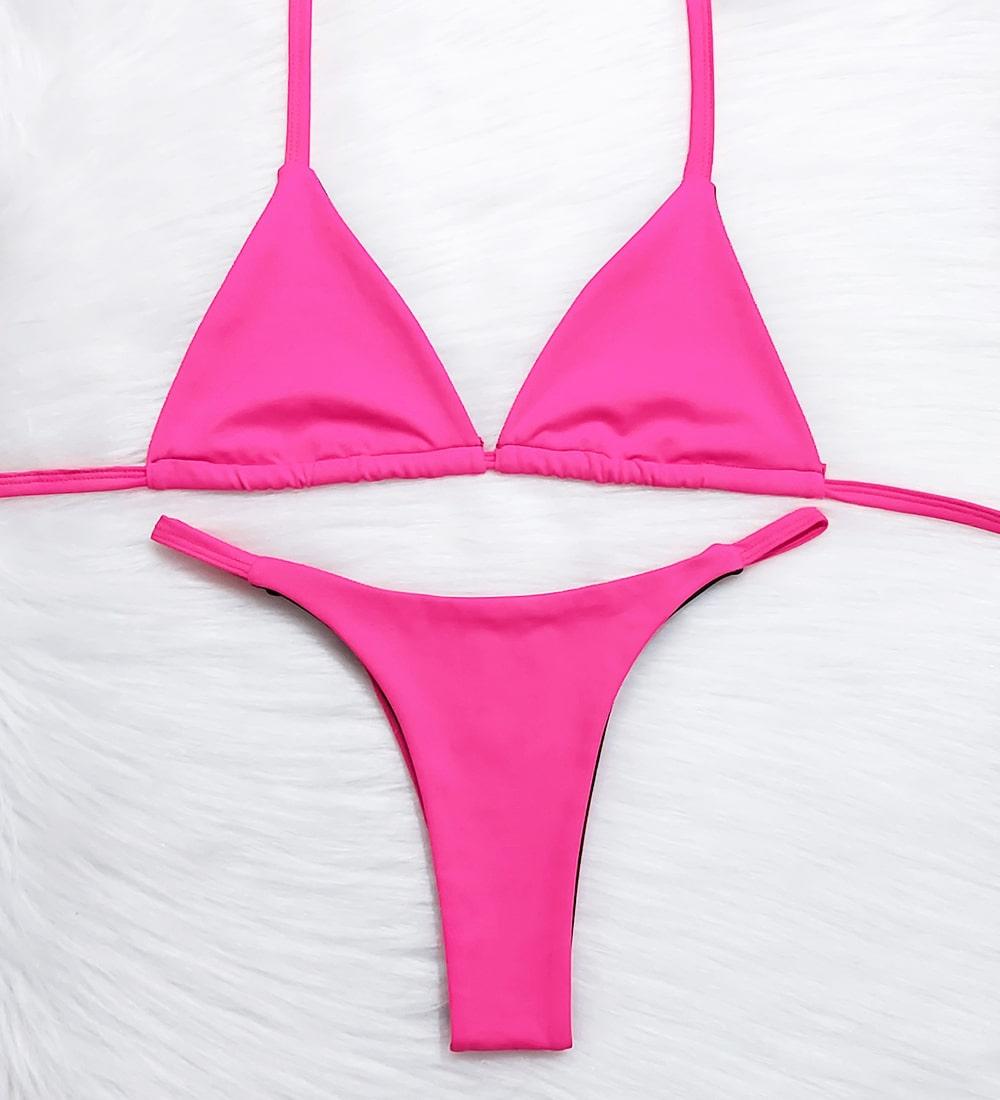 Conjunto Top Cortininha Fita Basic - Pink