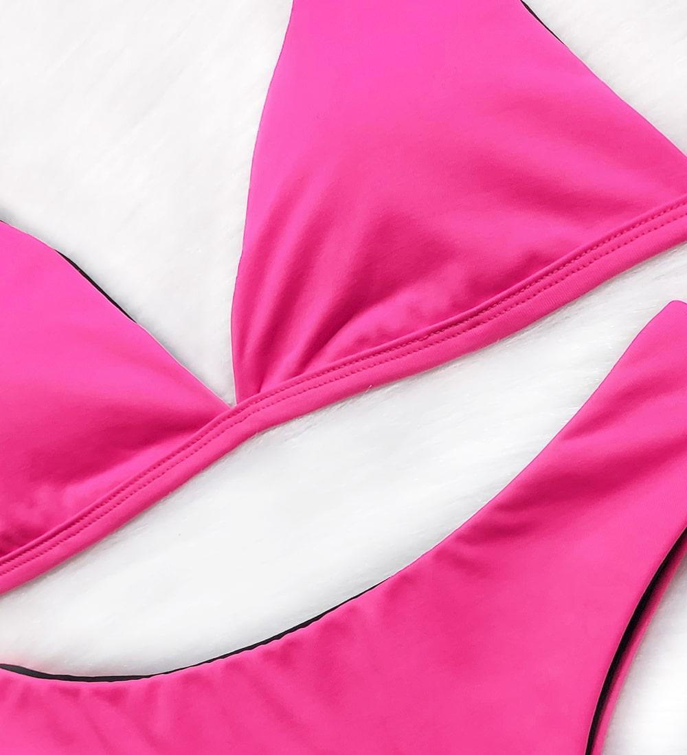 Conjunto Top Fixo Asa Delta Basic - Pink