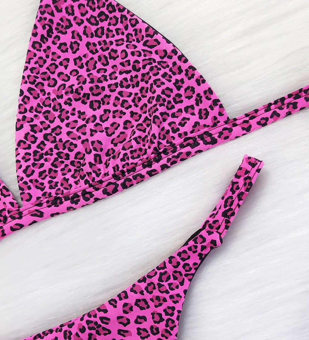 Conjunto Top Fixo Fita Pantanal - Onça Pink