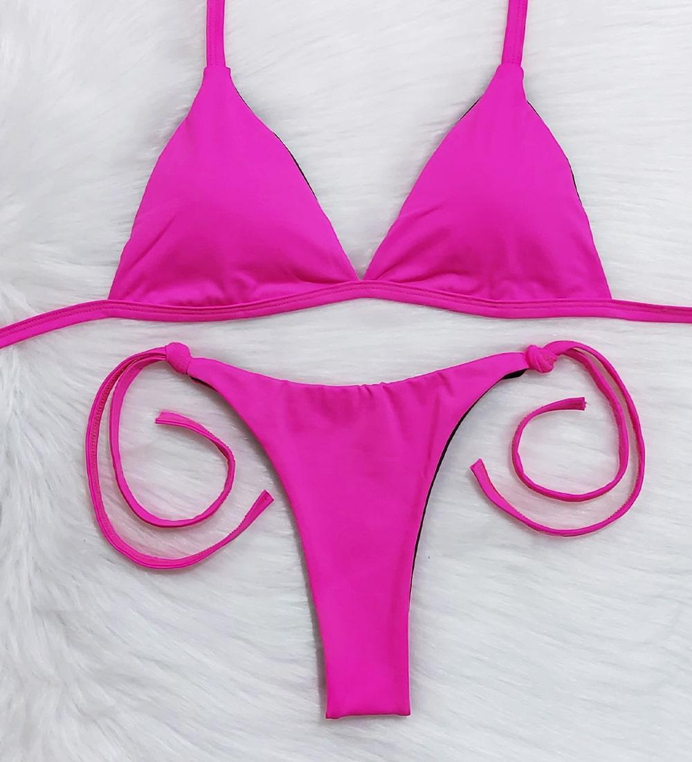 Conjunto Top Fixo Lacinho Basic - Pink