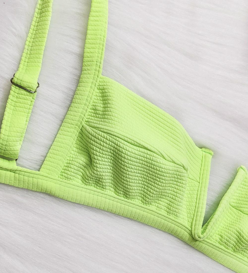 Decote V Summer - Verde Neon