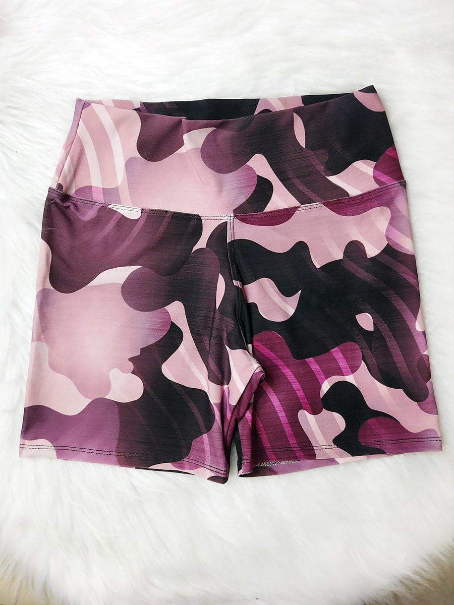 Shorts Camuflado - Rosa