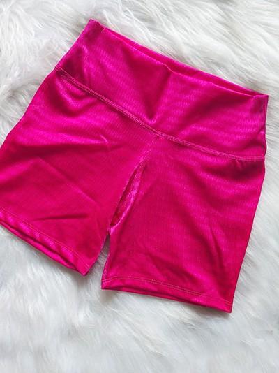Shorts em Poliamida 3D - Rosa