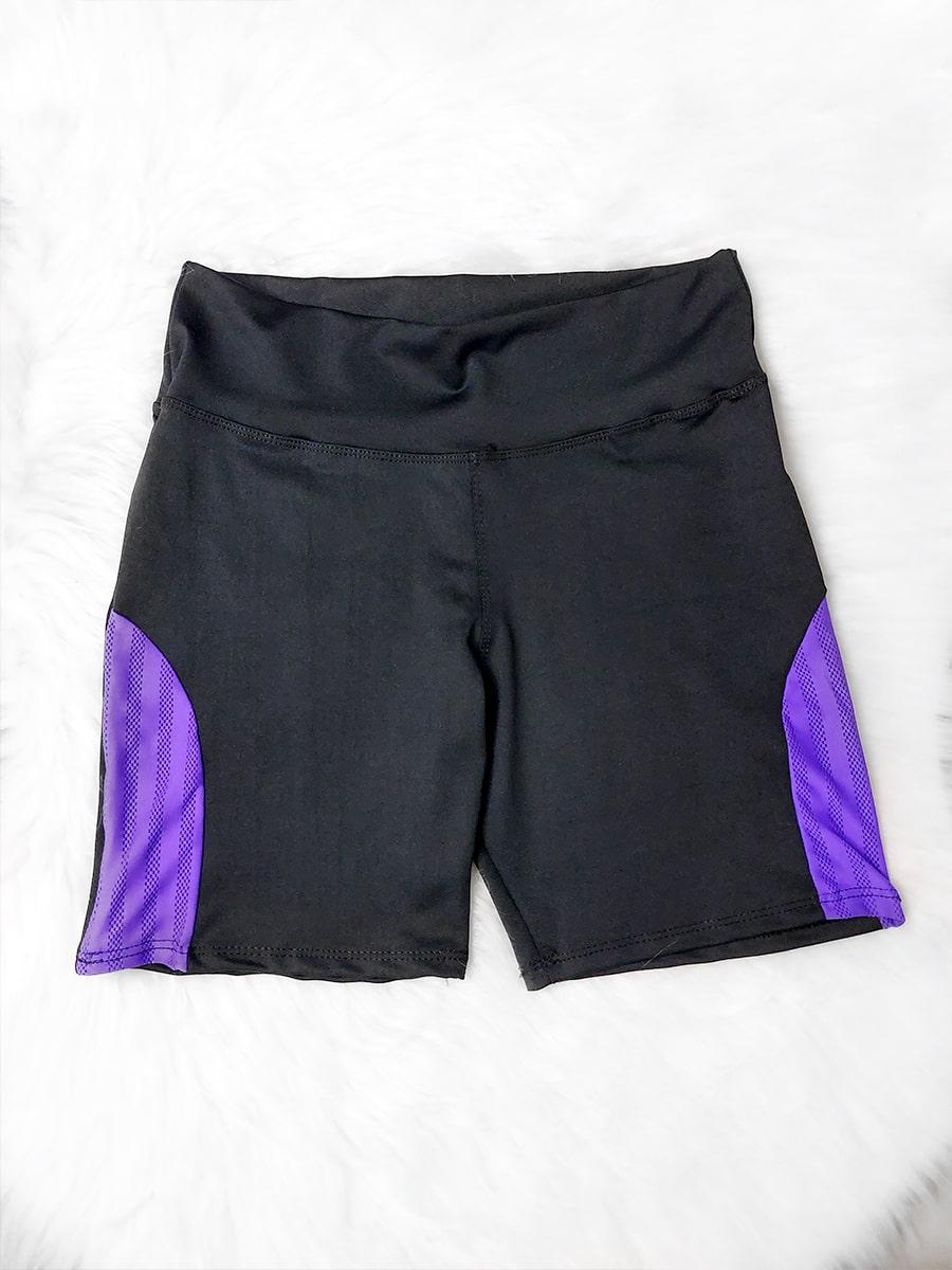 Shorts Fitness Tela - Roxo