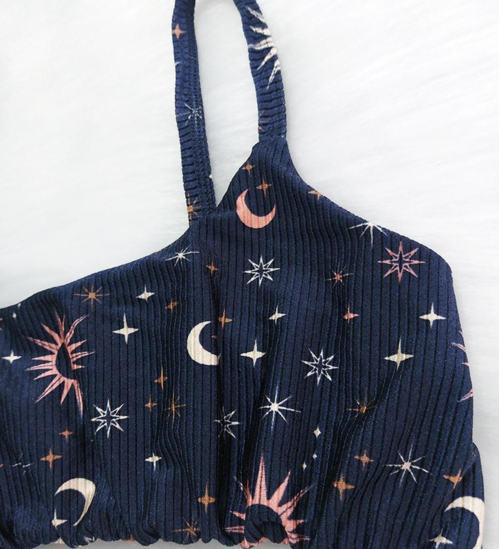 Top Alcinha Lunar - Azul Noite