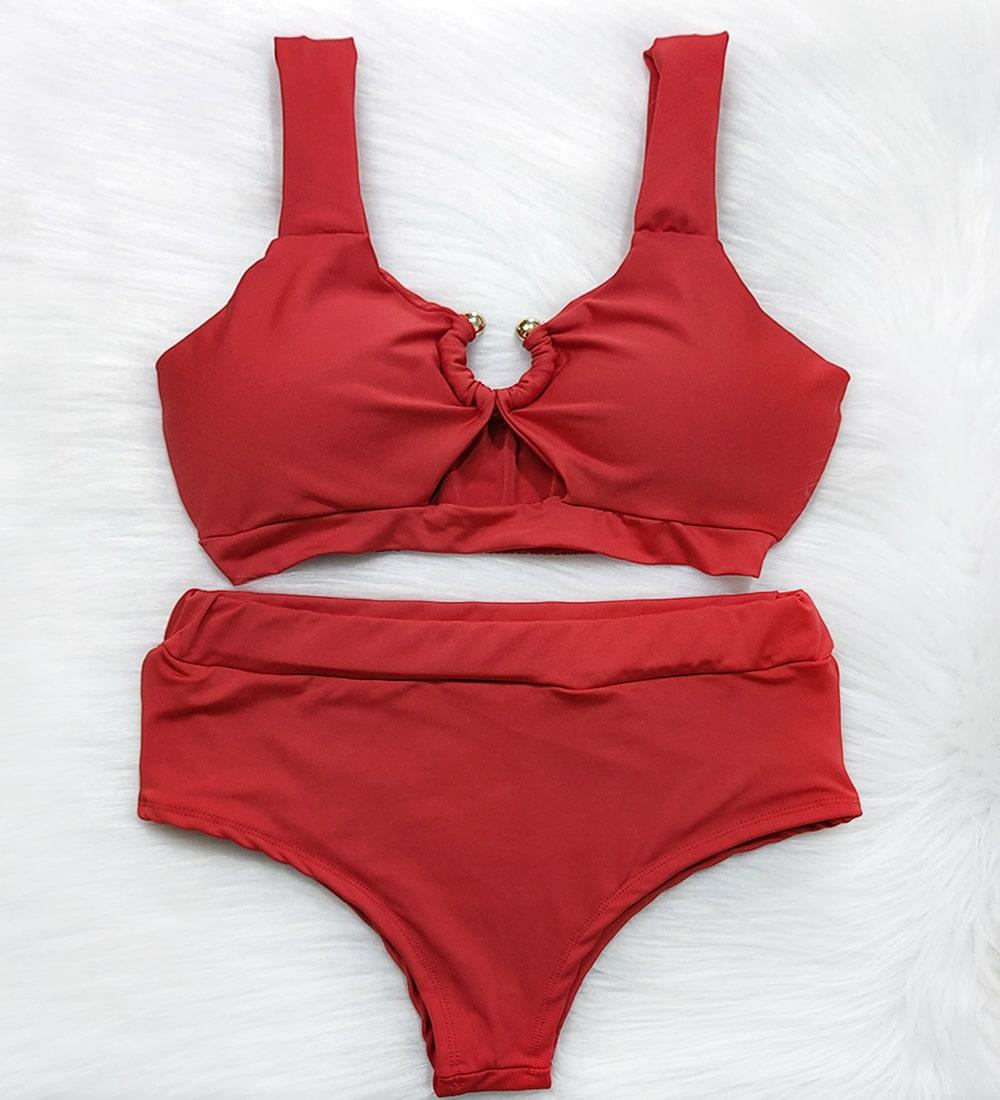 Biquini Argola Hot Pants Vênus - Vermelho