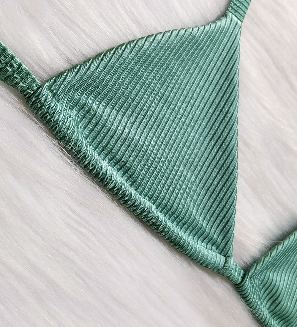 Top Cortininha Diamantina Metálico - Esmeralda