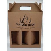 Caixa Presente Cerrado Beer Cerveja Capacidade 3 itens