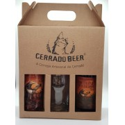 Kit Presente Tamanduá Bandeira Brown Ale: 1 garrafa + 1 lata + 1 copo