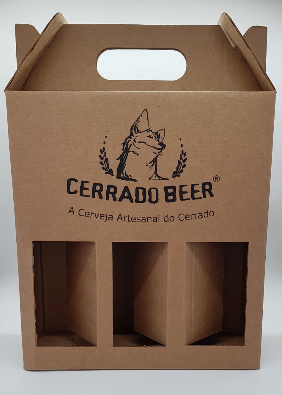 Caixa Presente Cerrado Beer Cerveja Kit 3 unidades