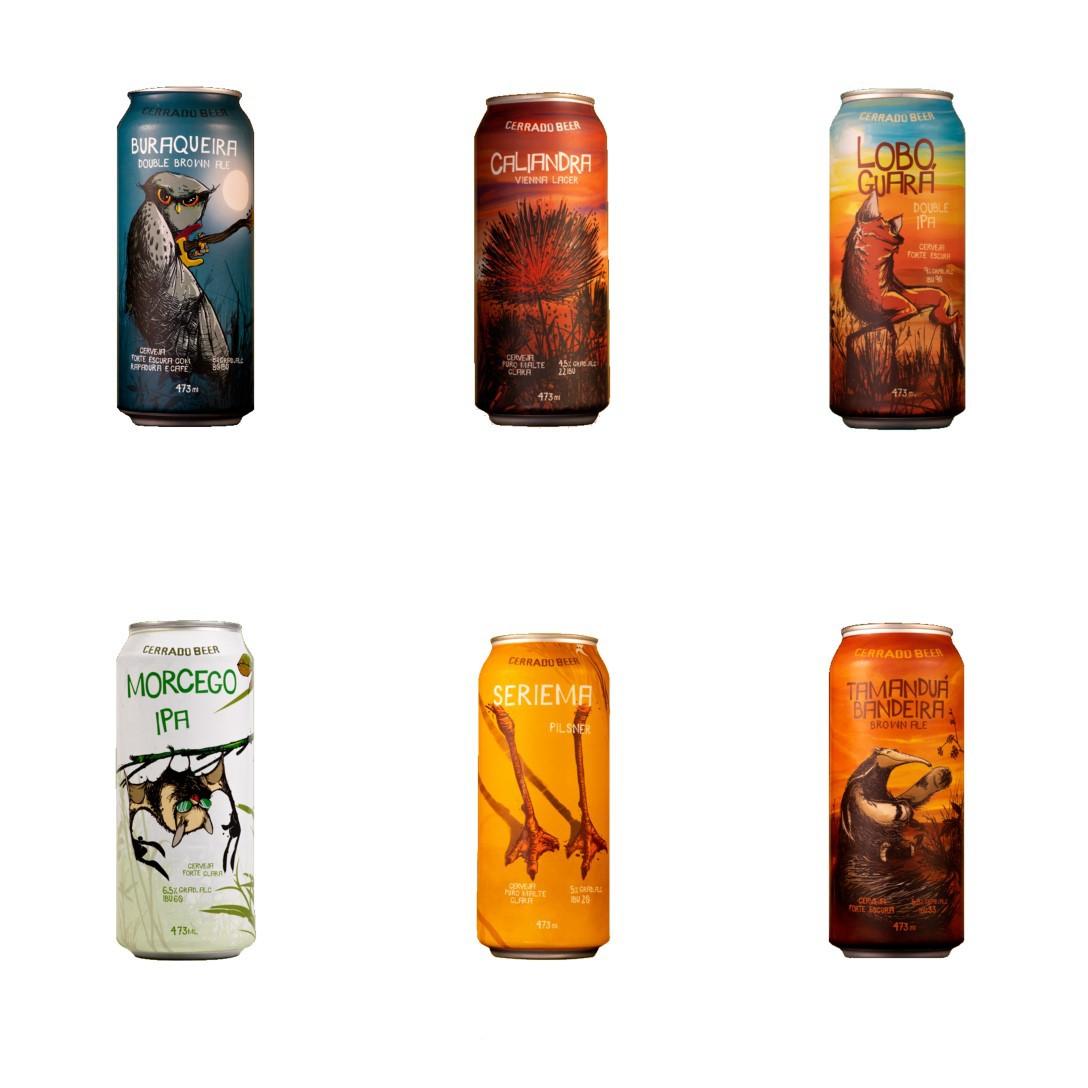 Kit Degustação com todos os rótulos da Cerrado Beer - 6 latas