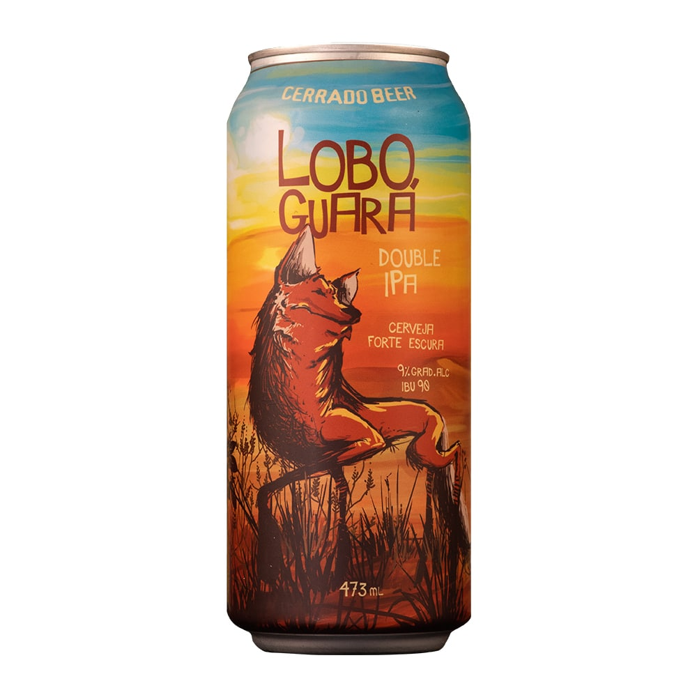 Kit Lobo Guará Double Ipa com 12 latas