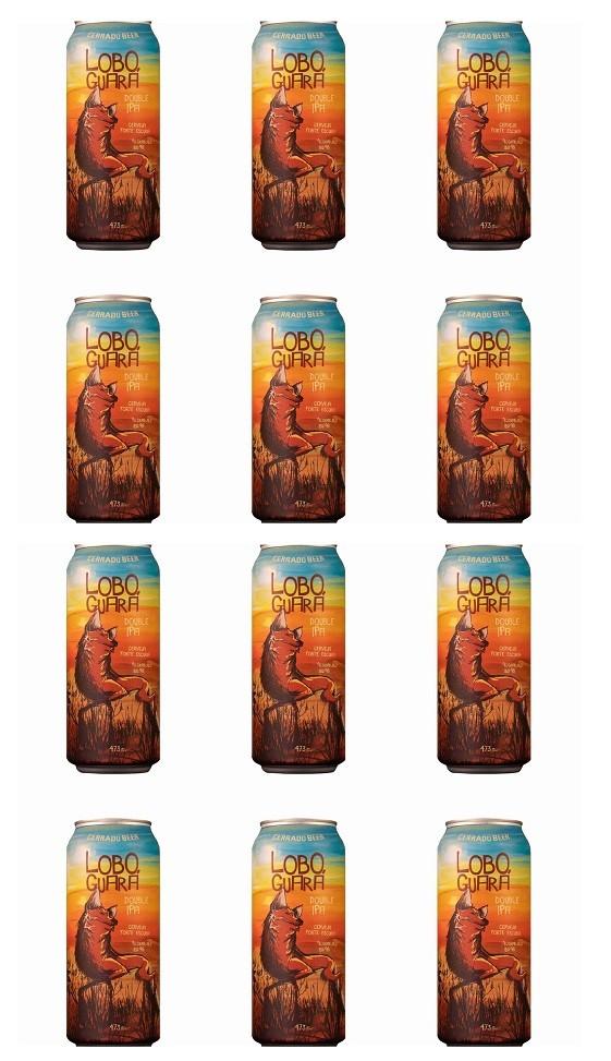 Kit Lobo Guará Double Ipa com 12 latas