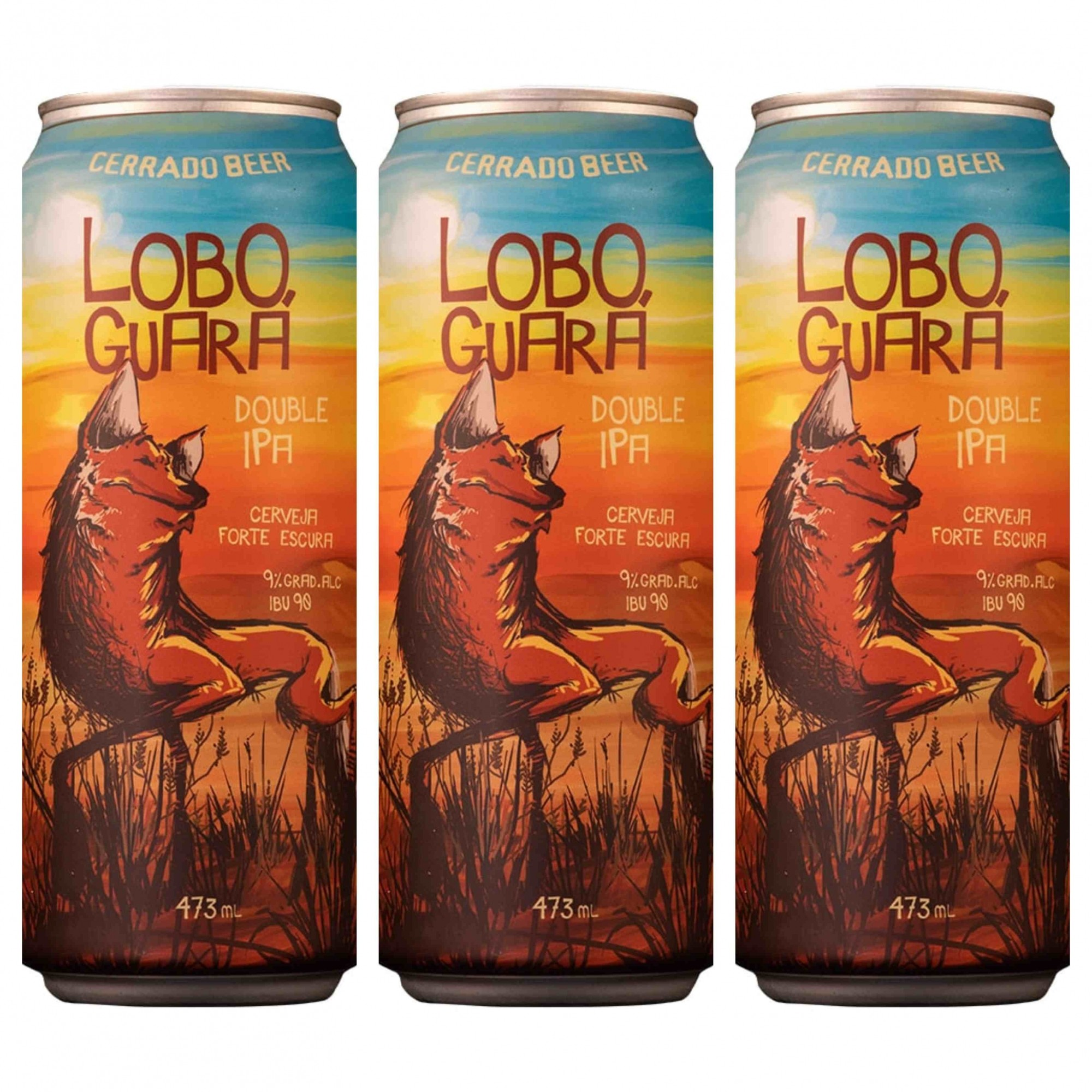 Kit Lobo Guará Double Ipa com 3 latas