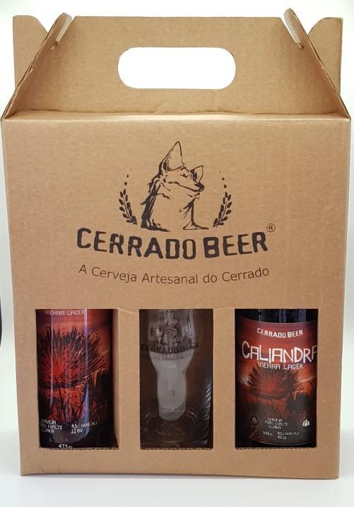 Kit Presente Caliandra Vienna Lager: 1 garrafa + 1 lata + 1 copo