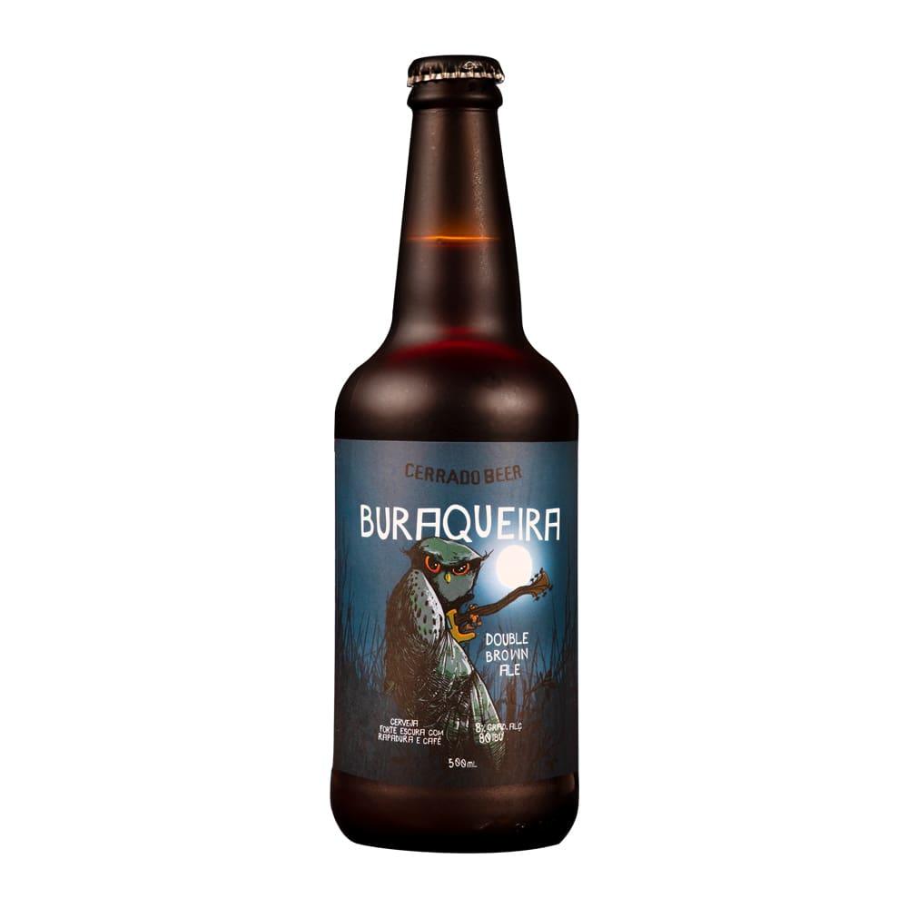 Kit Presente com 3 rótulos da Cerrado Beer: Buraqueira Brown Ale + Lobo Guará Double IPA + Morcego IPA