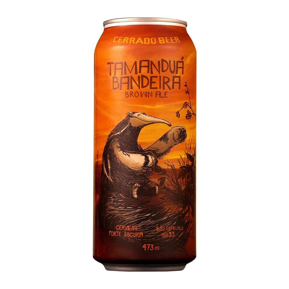 Kit Tamanduá Bandeira Brown Ale com 3 Latas