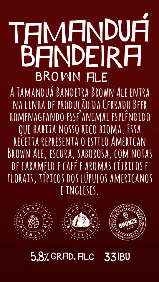 Tamanduá Bandeira Brown Ale Lata 473ml