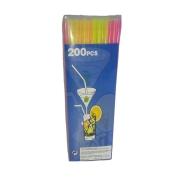 Canudos Neon Colorido Caixa com 200 unids.
