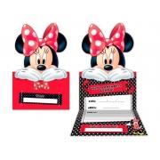 Convite Red Minnie.