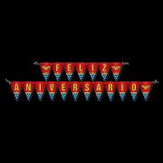 Faixa Feliz Aniversário 2,40M X 19Cm Wonder Woman