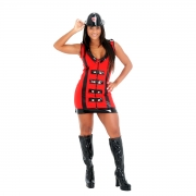 Fantasia Bombeira Luxo - Heat Girls Tam P