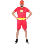 Fantasia The Flash Adulto Curto