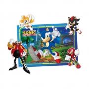 Kit Decorativo Sonic Com Personagens Destacáveis