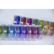 Kit Glitter Em Pó 10 Cores Vegano (3G Cada) - Color Make