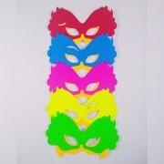 Máscara Tiazinha Papel Neon  12 unidades Sortidadas