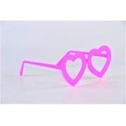 Óculos Pct Com 10 Colorido Neon + Luz Negra Coração