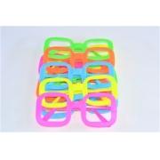 Óculos Pct Com 10 Colorido Neon + Luz Negra Quadrado 1