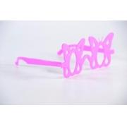 Óculos Pct Com 10 Plástico Colorido Borboleta Peq.