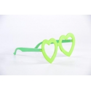 Óculos Pct Com 10 Plástico Colorido Coração