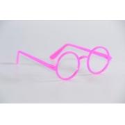 Óculos Pct Com 10 Plástico Colorido Redondo
